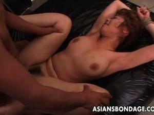 asian tied to bed - Tied Up Asian Babe Gets Fucked Long And Hard
