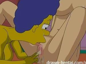 Big Boobs Marge Simpson Feet Porn - Lesbian Hentai - Marge Simpson and Lois Griffin