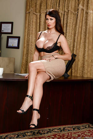 babe eva karera - ... Euro babe Eva Karera shows off great legs and MILF pornstar tits in  office ...