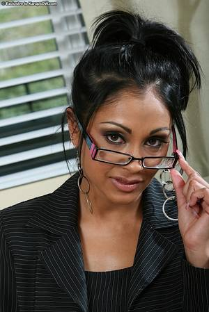 hot indian pussy with glasses - Busty office lady in glasses Priya Rai gets naked and exposes her exotic  indian snatch