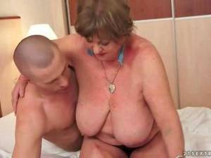 busty fat sex - Busty fat granny enjoys nasty sex with a young boy