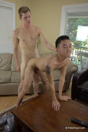 kiss huge white cock - Amateur Asian Twink Gets Fucked By The Cable Guys Big White Cock