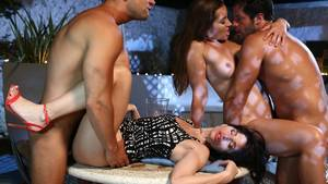 Husband And Wife Sex Vacation - Sex party with Ava Courcelles & Dani Daniels, on vacation without their  husbands ...