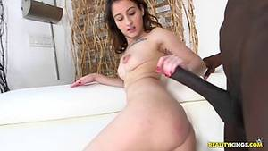 first huge - Adorable girl fucks her first huge black cock and loves it