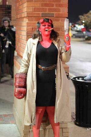 Female Hellboy Porn - My friend decided to be Hellboy for Halloween.