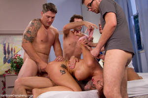 friends mom gangbang - ... Brunette mom gangbanged badly by her son - XXX Dessert - Picture 6