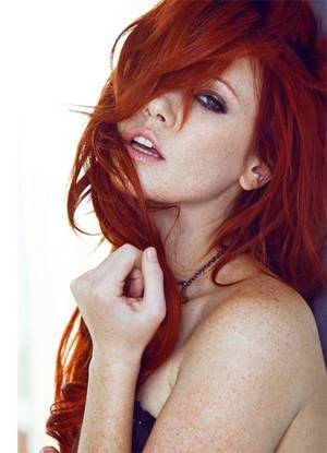 Chubby mature red head
