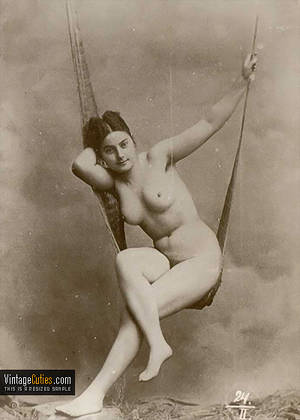 1800 Anal Porn - Curvy vintage woman with hard nipples on a swing retro ...