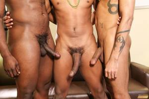 ebony monster cock threesome - Click here to watch this full length big black cock gay threesome porn  video and hundreds more amateur gay porn videos at Next Door Ebony.