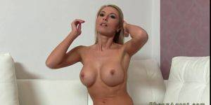 Big Tits Milf Casting - Shaped blonde milf with big tits fucked on casting