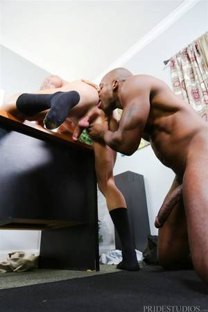 Big Dick Limp - White Muscle Hunk Takes A Big Black Cock Up The Ass During A Job Interview