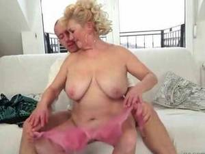 busty fat sex - Young man fucks busty fat grandma
