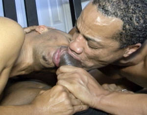 Black Breeding Gay Porn - Two guys compete to suck a huge black cock
