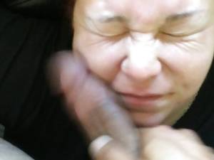 homemade slap - Cum Whore cock slapped on couch with huge messy facial - 4