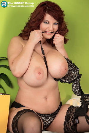 extreme large tits models - ... Thick solo model Vanessa Y lets her big natural tits loose from bra and  dress ...