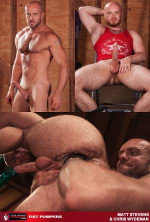 Gay Bear Fisting Porn - Porn: Scruffy muscle hunk Matt Stevens pumps his paws into Chris Wydeman's  hairy bear ass @ Club Inferno Dungeon – Wildassdude