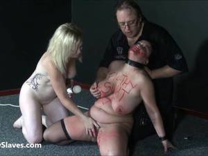 Bizarre Mature Lesbian Domination Sex - Bizarre sex toys domination and spanking of two bbw slaves in hardcore  lesbian humiliation and caning