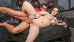 Busty German Brunette - Cover 2 Busty German brunette Pina Deluxe fucks Conny Dachs in the bus -  HD/ ...