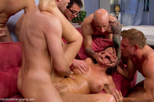 friends mom gangbang - ... Brunette mom gangbanged badly by her son - XXX Dessert - Picture 9