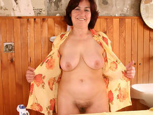 63 Year Old Porn - 63 year old Hannah showing off her hairy aged pussy