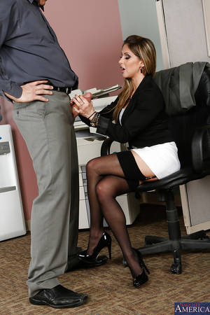 blowjob office milf - ... Caring milf Rachel Roxxx excites her boss with her blowjob skills ...