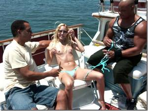 Boat Gangbang Porn - Asian massage fingered Fair skin blonde with black cock ...