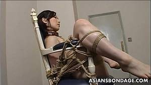 asian ass fucking in bondage - Extreme bondage and dildo fuck for an Asian babe