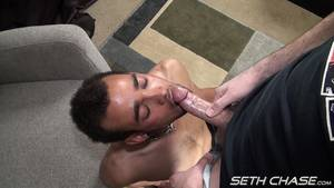 Bisexual Cum Facials - Bisexual Boy Sucks Daddies Cock and Gets Painted With A Huge Cum Facial