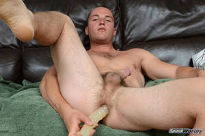 amateur hairy dildo - Ripped Marine Fucks His Straight Hairy Ass With A Dildo