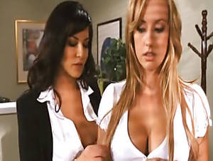lesbian secretary sex brunette - The New Secretary And The Boss · Blonde Brunette ...