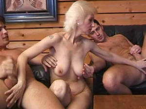 Hairy Russian Porn - 48:43 HAIRY GRANNY MARTINE OF PARIS 3SOME