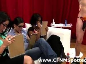 cfnm watch jerk off - Amateur Cfnm Babes Watch Guys Jerk Off