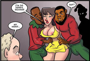 black cock anal cartoon - Big Dick Santa and His Elves Fucked My Wife and Daughter – Cartoon Sex  Comics