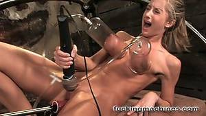 extreme fucking machines squirt - ... Sammie Rhodes has her tits sucked & pussy and ass machine fucked.