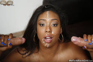 ebony girl dp - ... 029 interracial double penetration Lisa Tiffian