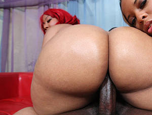 ebony monster cock threesome - Blessed With A Phat Black Ass Ebony Big Cock Threesome ...