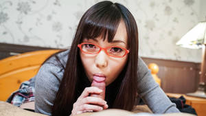 japanese teen blowjob - Teen with glasses amazes with Japanese blowjob - Japanese Porn @ JAVHD.COM