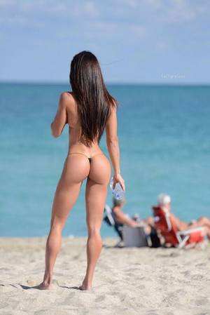 miami beach model nude - Michelle Lewin fit and hot in miami beach