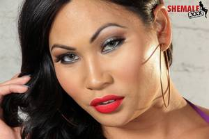asian shemale one - Asian Shemale Annalise Rose Strips On Shemale XXX
