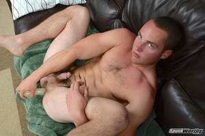 amateur hairy dildo - Ripped Marine Fucks His Striaght Hairy Ass With A Dildo