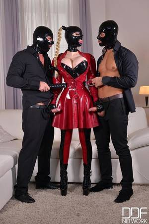 latex lucy xxx - Mystery Masks - Latex Loving Threesome For Fetish Lovers Video with David  Perry & Mugur & Latex Lucy