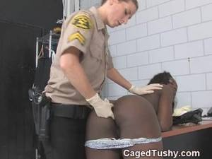 asian lesbian stripped - ebony girl strip searched by guard