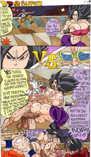 big boob dbz xxx - big_breasts big_penis bimbo breast_grab caulifla dragon_ball  dragon_ball_super english_text female hoop_earrings human kale krillin  large_breasts ...