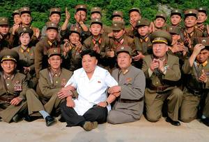 North Korea Military Porn - Kim Jong Un, the third family member to rule North Korea, with military  personnel