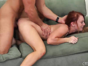 Girlfriend Amateur Porn Series - Pulling his darling's red hair during their steamy doggy boning