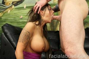 extreme deepthroat huge tits bouncing gifs - Big Tits Babe Brook Ultra Gets Her Throat Fucked and Ass Ripped -  FaceFuckingPorn.com