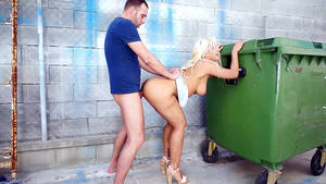 big ass fucked in public - Big ass beauty from Argentina Blondie Fesser gets fucked in public