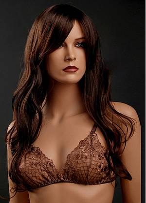 Dark Brown Hair Porn - Capless Long Wavy High Quality Dark Brown Synthetic Hair Wig