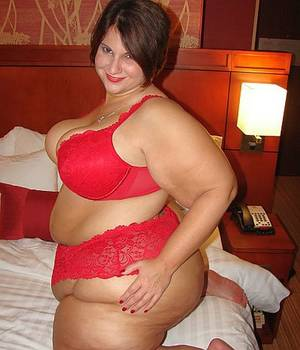 fat babes facebook - Fat girl in red lace bra and panties