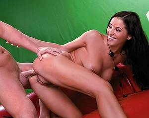 footjob before and after - Big Boobed Brunette Angel Dark Gives a Footjob before Her.